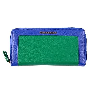 Club Rochelier – Porte-cartes avec porte-passeport amovible, vert