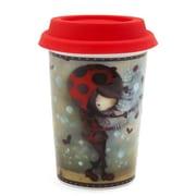 Ketto Double Wall Coffee Mug, Ladybug Girl