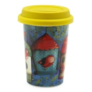 Double Wall Coffee Mugs With Silicone Lid, 160ml