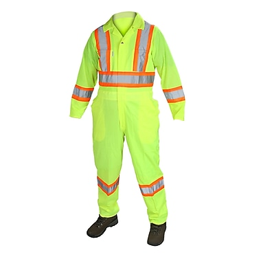 Forcefield Flaggers Coverall, Lime, XL
