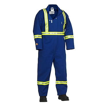 Forcefield Fire Resistance Coverall, Blue, 40 Chest