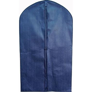 Housse à vêtements non tissée, bleu marine à fines rayures, 24 po x 42 po, bte/100