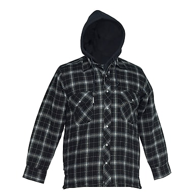 Forcefield Flannel Shirt with Hood, Black, 2XL
