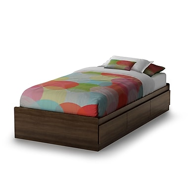 South Shore Cookie Twin Mates Bed (39''), Mocha , 76.25'' (L) x 40.25'' (D) x 14.5'' (H)