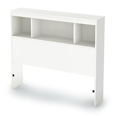 South Shore - Tête de lit à bibliothèque Sparkling pour lit simple, 39 po, pur blanc