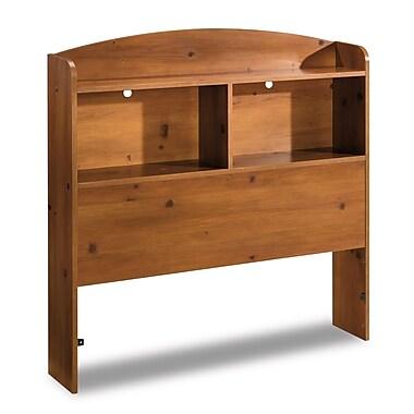 South ShoreMD – Tête de lit bibliothèque pour lit simple (39 po), collection Logik, pin ensoleillé