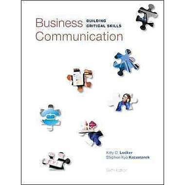 Business Communication: Building Critical Skills, Used Book
