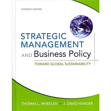 Strategic Management and Business Policy: Toward Global Sustainability, New Book