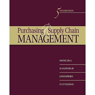 Purchasing and Supply Chain Management, New Book