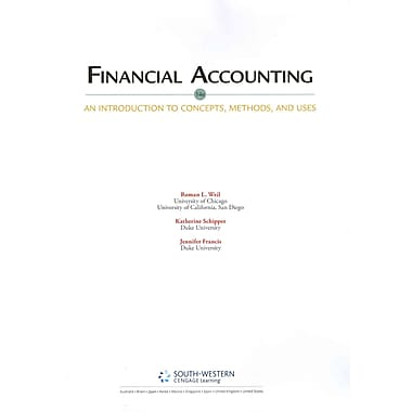 Financial Accounting: An Introduction to Concepts, Methods and Uses, Used Book