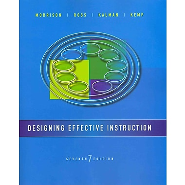 John Wiley & Sons Designing Effective Instruction Book, Used Book