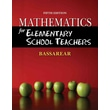 Cengage Learning® 5th Edition Mathematics Book For Elementary School Teachers