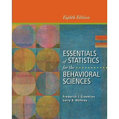 Cengage Learning® Essentials of Statistics for the Behavioral Sciences Paperback Book, New Book