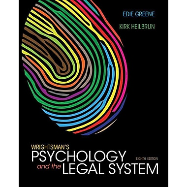Cengage Learning® Wrightsman's Psychology and the Legal System Hardback Book, New Book