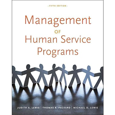 Cengage Learning® Management of Human Service Programs Book, New Book
