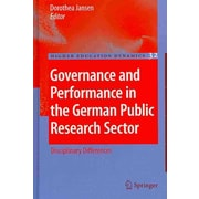 Springer Governance and Performance in the German Public Research Sector, Volume 32 Book