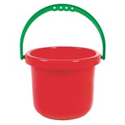 American Educational Sand and Water Toy Large Bucket, Red