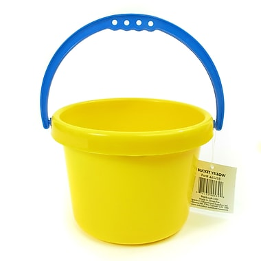 American Educational Sand and Water Toy Small Bucket, Yellow