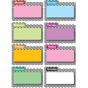 "Ashley 8 1/2"" x 11"" File Days Of Week Magnetic Time Organizer, Black Chevron"