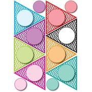 "Ashley 8 1/2"" x 11"" Die-Cut Magnet, Color Chevron Pennants"