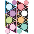 Ashley 8 1/2in. x 11in. Die-Cut Magnet, Black/White Dots Pennants