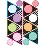 Ashley 8 1/2 x 11 Die-Cut Magnet, Black/White Dots Pennants