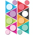 Ashley 8 1/2in. x 11in. Die-Cut Magnet, Colorful Dots Pennants