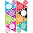 "Ashley 8 1/2"" x 11"" Die-Cut Magnet, Colorful Dots Pennants"