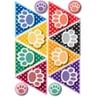 "Ashley 8 1/2"" x 11"" Die-Cut Magnet, Colorful Paws Print Dots Pennants"