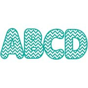 Ashley 2 3/4 Designer Magnetic Letter, Turquoise Chevron