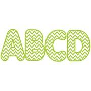 Ashley 2 3/4 Designer Magnetic Letter, Lime Green Chevron