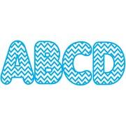 Ashley 2 3/4 Designer Magnetic Letter, Blue Chevron