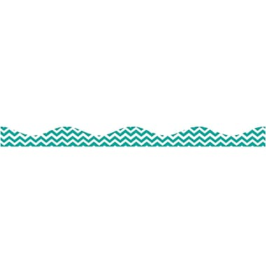 Ashley Kindergarten - 12th Grade Magnetic Border, Turquoise Chevron