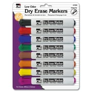 Charles Leonard Whiteboard Markers, Chisel Tip, Dry Erase, Assorted, 8/Pack