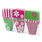Clip-Rite® Daisy Clip-Tab, Pink/Green, 24/Pack