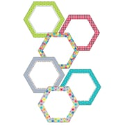 "Creative Teaching Press® 6"" Designer Cut-Outs, HexaFun Hexagons"