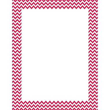 Creative Teaching Press® Poppy Red Chevron Poster Chart, Grades All