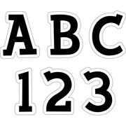 "Creative Teaching Press® Uppercase 2"" Letter Sticker, Fancy Black"