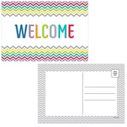 "Creative Teaching Press® 4"" x 6"" Welcome Post Card, Chevron"