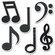 "Creative Teaching Press® 6"" Designer Cut-Outs, Music Symbols"