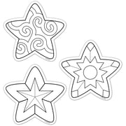 Creative Teaching Press® 6 Designer Cut-Outs, Color-Me Stars