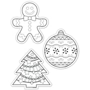 Creative Teaching Press® 6 Designer Cut-Outs, Color-Me Holiday