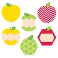 Creative Teaching Press® HexaFun 10in. Jumbo Designer Cut-Outs, Apples