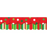 "Creative Teaching Press 6590 52.5"" Scalloped Holiday Cheer Perfect Pairs Border Set, Multicolor"