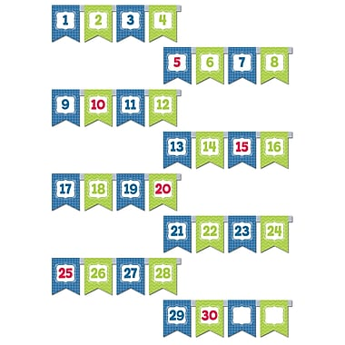 Creative Teaching Press® Mini Bulletin Board Set, Chevron Pennants Number Line