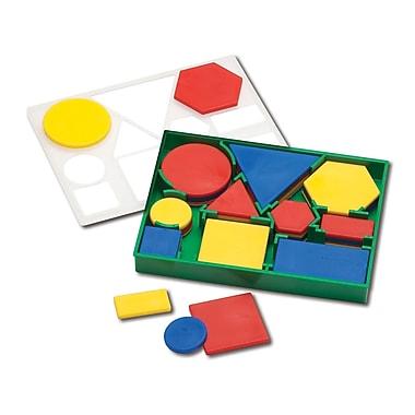 Learning Advantage™ Plastic Attribute Blocks Desk Set, 60 Piece