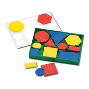Learning Advantage™ Plastic Attribute Blocks Desk Set, 60 Piece