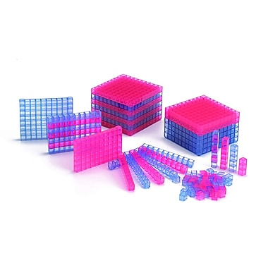 Learning Advantage Transparent Interlocking Base Ten Starter Set, Grade 1st - 12th