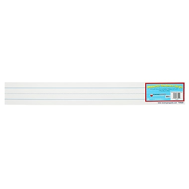 Dowling Magnets Magnetic White Large Sentence Strip, 24