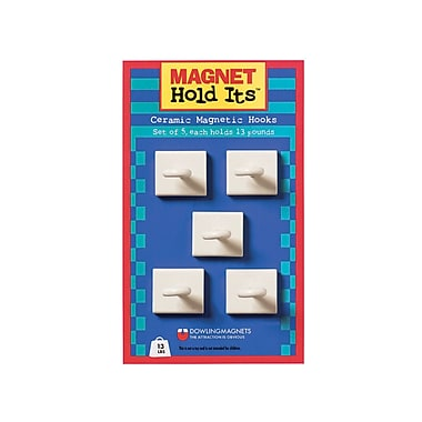 Dowling Magnets Ceramic Ceiling Hook, 5/Set